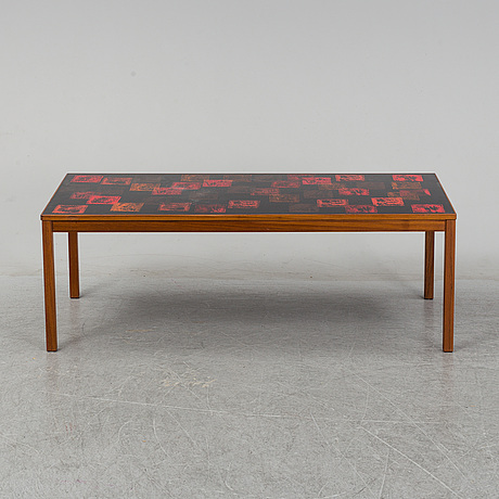 A 'röd kvadrat' sofa table, p törneman and david rosén for nordiska kompaniet, 1960s.