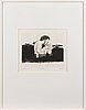 Outi heiskanen, etching, signed and dated -86, tpl'a 16/80.
