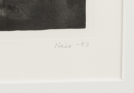 Outi heiskanen, etching, signed and dated -07, numbered e.a.1.