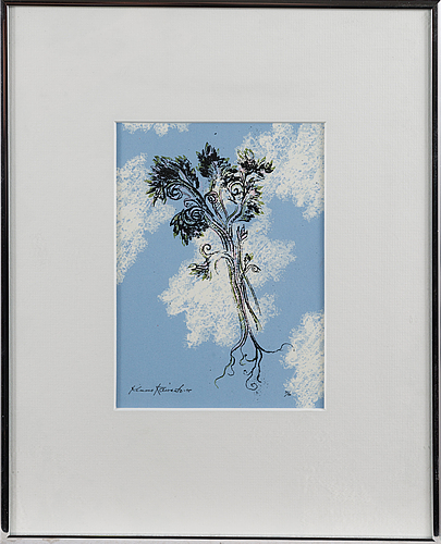 Kimmo kaivanto, serigraph, signed and dated -95, numbered 34/40.