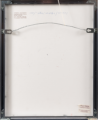 Kimmo kaivanto, serigrafia, signeerattu ja päivätty -95, numeroitu 33/40.