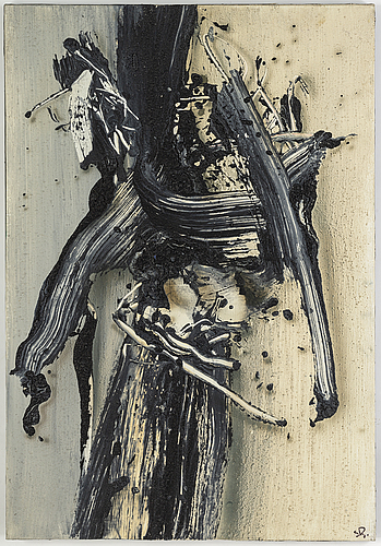 Sven inge hÖglund, oil and mixed media on canvas, signed and dated 1990.