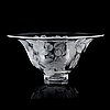 Lisa bauer, a 'rosa canina' glass bowl, kosta, signed and numbered 121/375.
