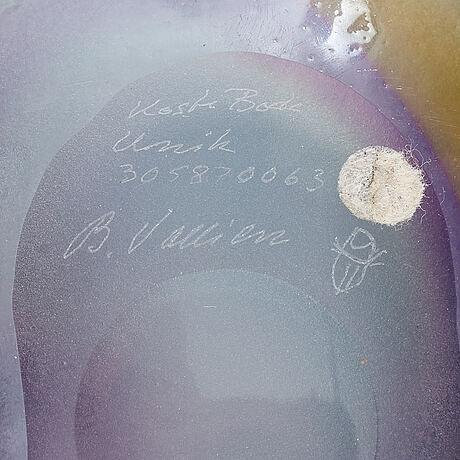 Bertil vallien, a unique glass bowl, kosta boda.