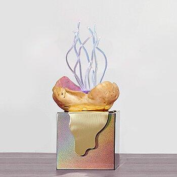 "AIA JÜDES, ""Vrilarnas återkomst"", a table lamp / object, Studio Aia Jüdes i collaboration with Erling Tällberg  2020."