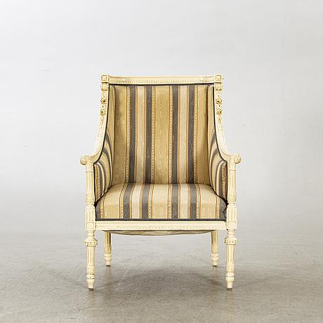 BergÈre / fÅtÖlj, louis xvi-stil, 1800-talets slut.