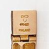 "Björn weckström, a 14k gold bracelet ""cascade"". lapponia 1969."