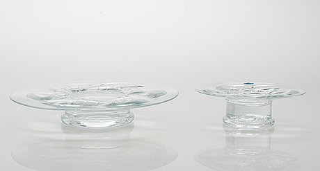 """Kerttu nurminen, ljusstakar, """"lumme"""", 15 st, glas. notsjö."""