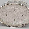 A silver christian hosoe tea pot, copenhagen, 1800.