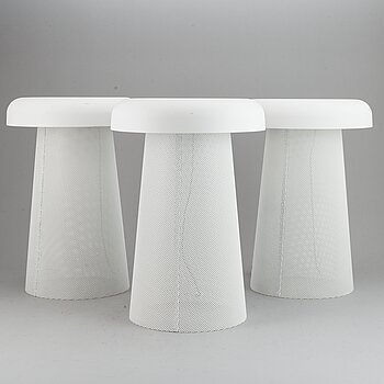 Three Jens Fager table lamps,  Mesh, Zero.