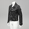 Burberry, a leather jacket, size l.