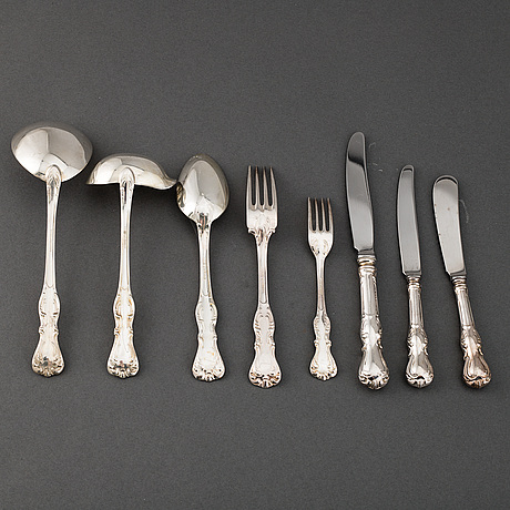 Gab, a part 'prins albert' silver cutlery, stockholm, 1980/90s (64 pieces).