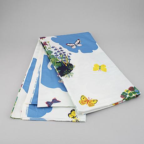 "A josef frank textile, ""himmel och jord"", cotton, firma svenskt tenn, stockholm, sweden."