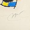 Joan miró, färgetsning och akvatint, 1976, signerad med blyerts och numrerad 73/120.