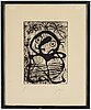 Joan mirò, etching with aquatint, signed and numbered h.c, executed 1959.