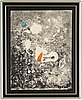 Joan miró, lithograph in color, signed and numbered 20/75.
