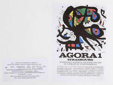 Joan miró, litograph in colour and numbered hc.