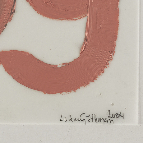 Lukas gÖthman, acrylic on plastic film, signed and dated 2004.