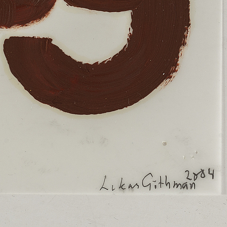 Lukas gÖthman, acrulic on palstic film, signed and dated 2004.