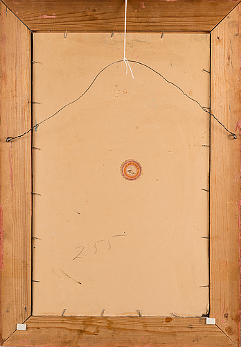 Jalmari ruokokoski, oil on board, signed and dated 1914.