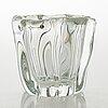 Tapio wirkkala, a glass vase 'kalvolan kanto', signed tapio wirkkala - 3241.