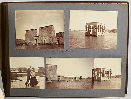 Fotoalbum,   medelhavskryssning 1905-06 med korvetten freja.
