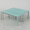 A nest of four glass tables, ideal form team, late 20th century.
