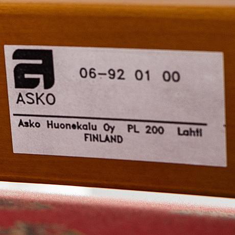Markku pakkanen, a pair of 'harlekiini, easy chairs from asko, finland.