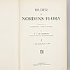 """Litografiska tryck,""""bilder ur nordens flora efter palmstruch m.fl."""", c.a.m lindman, stockholm, 3 volymer, 1905."""