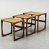 A set of three nesting tables, g-plan, late 20th cenutry.