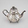 A danish rococo style silver teapot, p. hertz, copenhagen, denmark, 1936.
