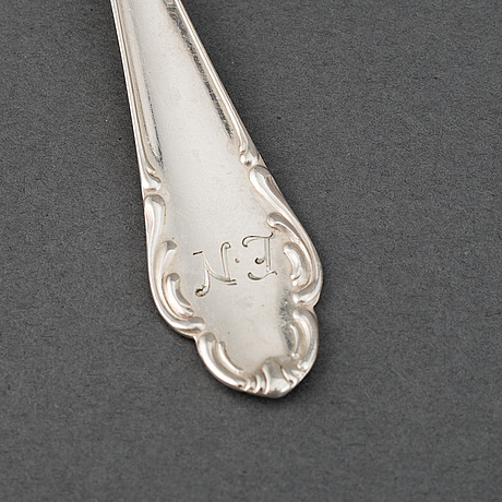 A part 'haga' silver cutlery, marked jlh, 20th century (103 pieces).
