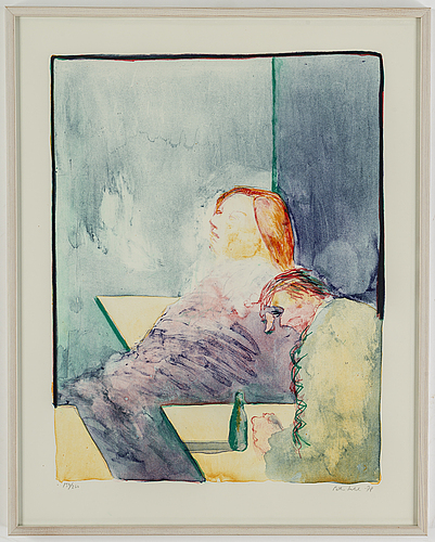 Peter dahl, lithograph in colours, 1978, signed 150/260.