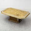 Harry snÖrÉn, a brass coffee table, second half of the 20th century.