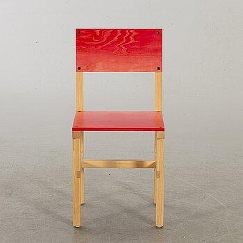 """FREDRIK PAULSEN, """"Röhsska""""Designbaren, chair, Blå Station 2020, Chair 45/102."""