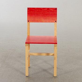 """FREDRIK PAULSEN, """"Röhsska""""Designbaren, chair, Blå Station 2020, Chair 37/102."""