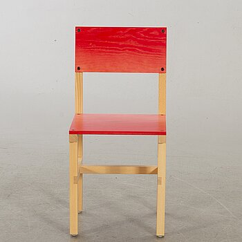 """FREDRIK PAULSEN, """"Röhsska""""Designbaren, chair, Blå Station 2020, Chair 29/102."""