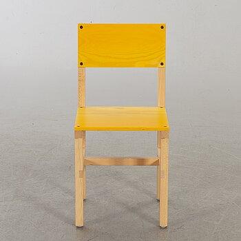 """FREDRIK PAULSEN, """"Röhsska""""Designbaren, chair, Blå Station 2020, Chair 14/102."""