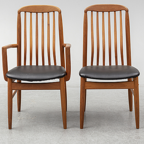 A set of six late 20th century chairs, benny lindén design.