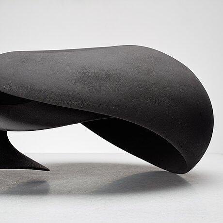 """Eva hild, a black stoneware sculpture """"prolongation"""", sweden 2009."""
