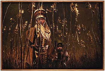 """5. Cooper & Gorfer, """"Shola and Islam in a Field of Newly Planted Trees"""", 2010."""