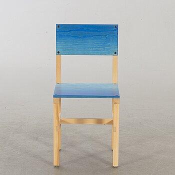 """FREDRIK PAULSEN, """"Röhsska""""Designbaren, chair, Blå Station 2020, Chair 27/102."""