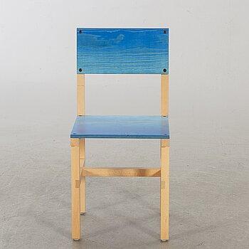 """FREDRIK PAULSEN, """"Röhsska""""Designbaren, chair, Blå Station 2020, Chair 35/102."""