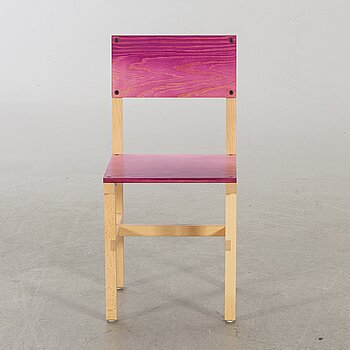 """FREDRIK PAULSEN, """"Röhsska""""Designbaren, chair, Blå Station 2020, Chair 75/102."""