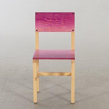 """FREDRIK PAULSEN, """"Röhsska""""Designbaren, chair, Blå Station 2020, Chair 79/102."""