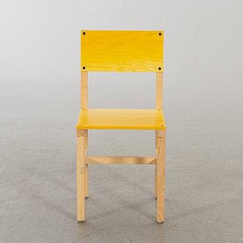"""FREDRIK PAULSEN, """"Röhsska""""Designbaren, chair, Blå Station 2020, Chair 65/102."""