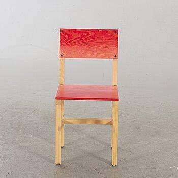 """FREDRIK PAULSEN, """"Röhsska""""Designbaren, chair, Blå Station 2020, Chair 76/102."""