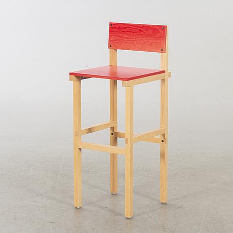 "Fredrik paulsen, ""röhsska""designbaren,bar stool, blå station 2020, bar stool 13/18."