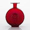 Helena tynell, a 'sun-bottle' glass vase, riihimäen lasi, finland. designed in 1964.