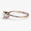 A 14k white gold ring with a diamonds ca. 0.49 ct.